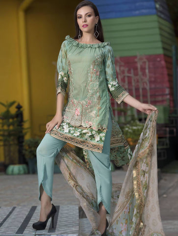 STITCHED CHIF. DUPATTA LAWN 3 PC KC-5038