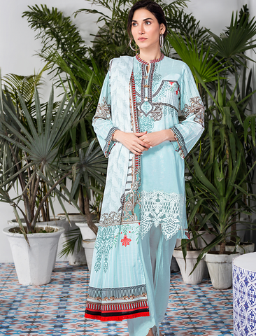 Stitched Embroidered 3 Piece KL-4104