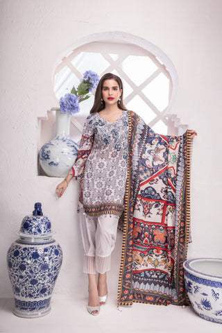 STITCHED 3 PIECE SUIT KL4032