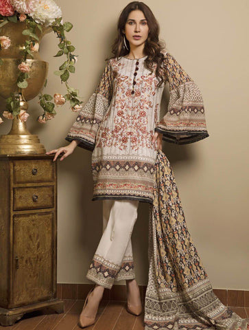 STITCHED EMB. LAWN 3 PC KL-4048