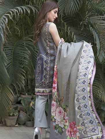 STITCHED EMB. LAWN 3 PC KL-4051