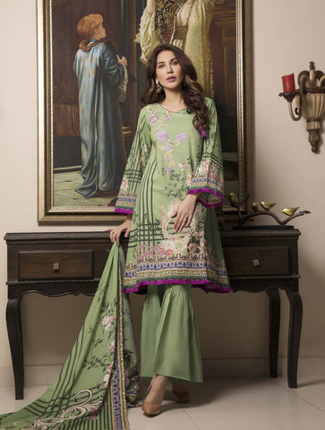 STITCHED EMB. LAWN 3 PC KL-4052
