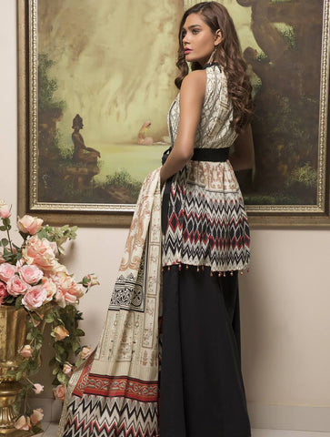 STITCHED EMB. LAWN 3 PC KL-4053