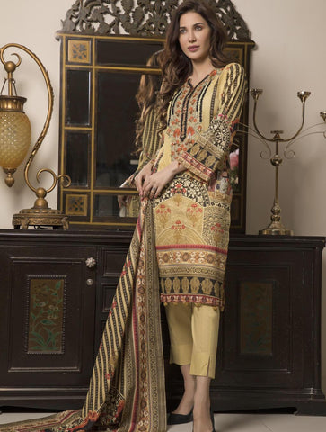 STITCHED EMB. LAWN 3 PC KL-4054