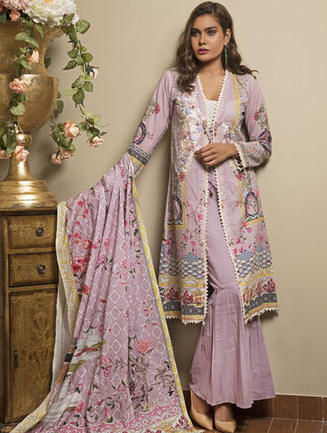 STITCHED EMB. LAWN 3 PC KL-4055