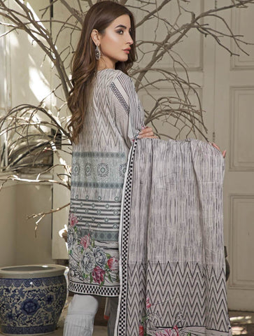 STITCHED EMB. LAWN 3 PC KL-4057