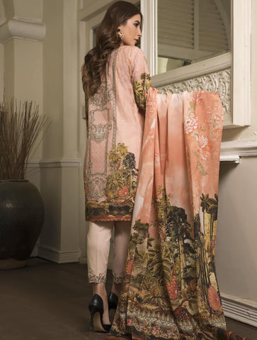 STITCHED EMB. LAWN 3 PC KL-4059