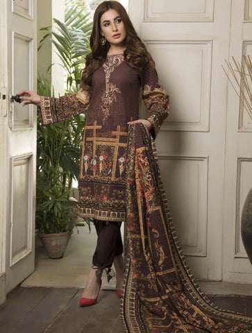 STITCHED EMB. LAWN 3 PC KL-4060