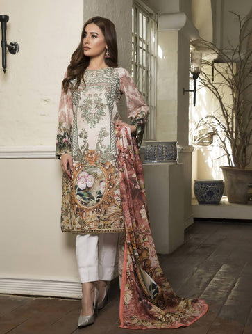 STITCHED EMB. LAWN 3 PC KL-4061