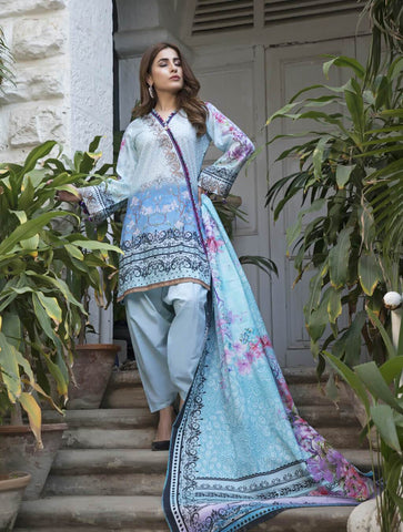 STITCHED PRNT. LAWN 3 PC KL-4062