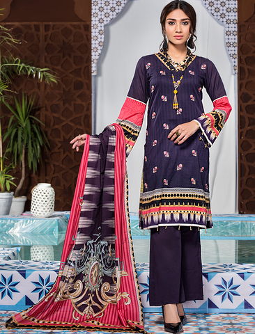 Stitched Embroidered 3 Piece KL-4100