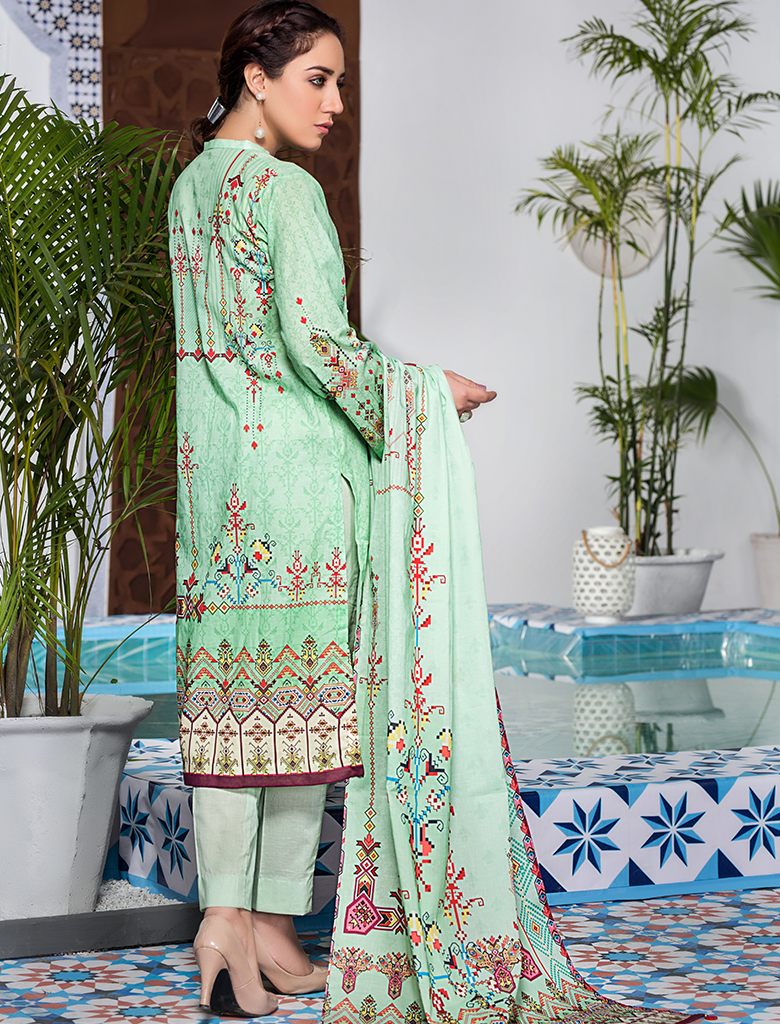 Stitched Embroidered 3 Piece KL-4101