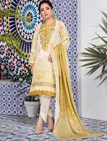 Stitched Embroidered 3 Piece KL-4105