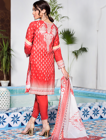 Stitched Embroidered 3 Piece KL-4106