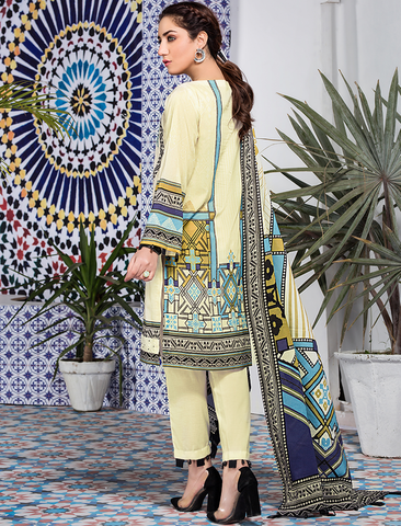 Stitched Embroidered 3 Piece KL-4107