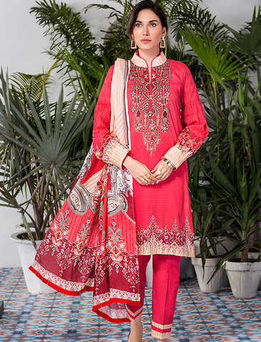 Stitched Embroidered 3 Piece KL-4110