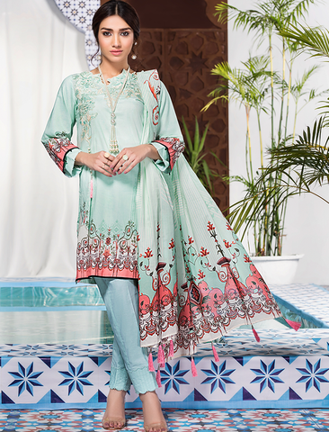 Stitched Embroidered 3 Piece KL-4111