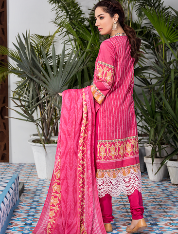 Stitched Embroidered 3 Piece KL-4113