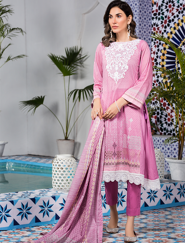 Stitched Embroidered 3 Piece KL-4114