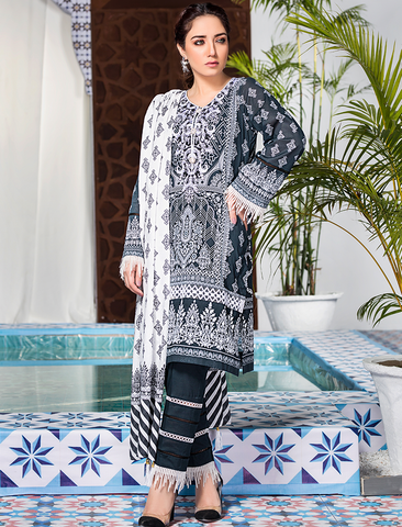 Stitched Embroidered 3 Piece KL-4116