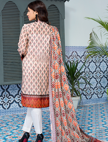 Stitched Printed 3 Piece KLA-9072