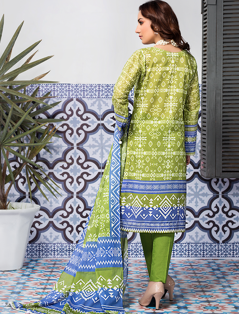 Stitched Printed 3 Piece KLA-9075