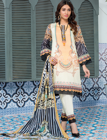 Stitched Printed 3 Piece KLA-9089