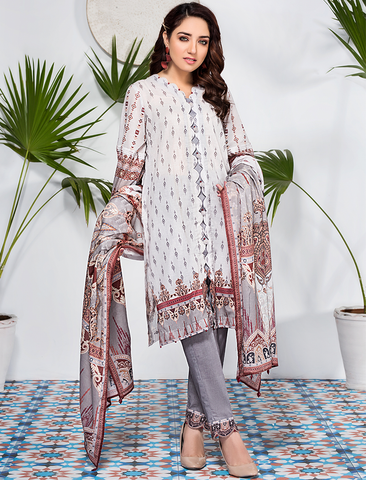 Stitched Printed 3 Piece KLA-9086