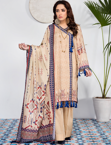 Stitched Printed 3 Piece KLA-9084