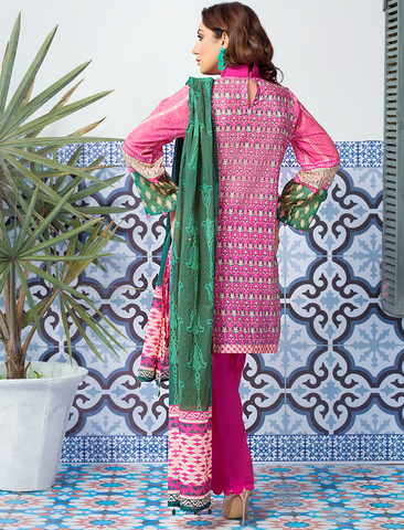 Stitched Printed 3 Piece KLA-9078