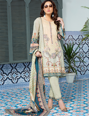 Stitched Printed 3 Piece KLA-9087