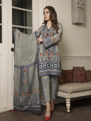 STITCHED PRNT. LAWN 3 PC KLA-9022