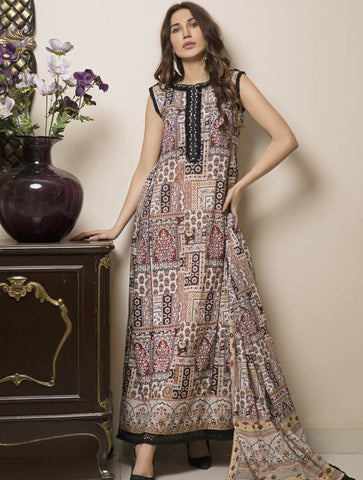 STITCHED PRNT. LAWN 3 PC KLA-9023