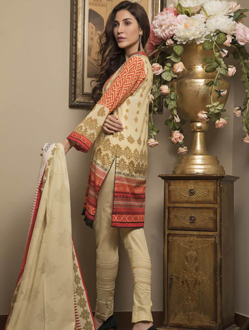 STITCHED PRNT. LAWN 3 PC KLA-9025