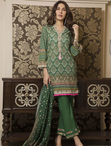 STITCHED PRNT. LAWN 3 PC KLA-9026