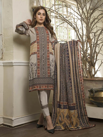 STITCHED PRNT. LAWN 3 PC KLA-9027