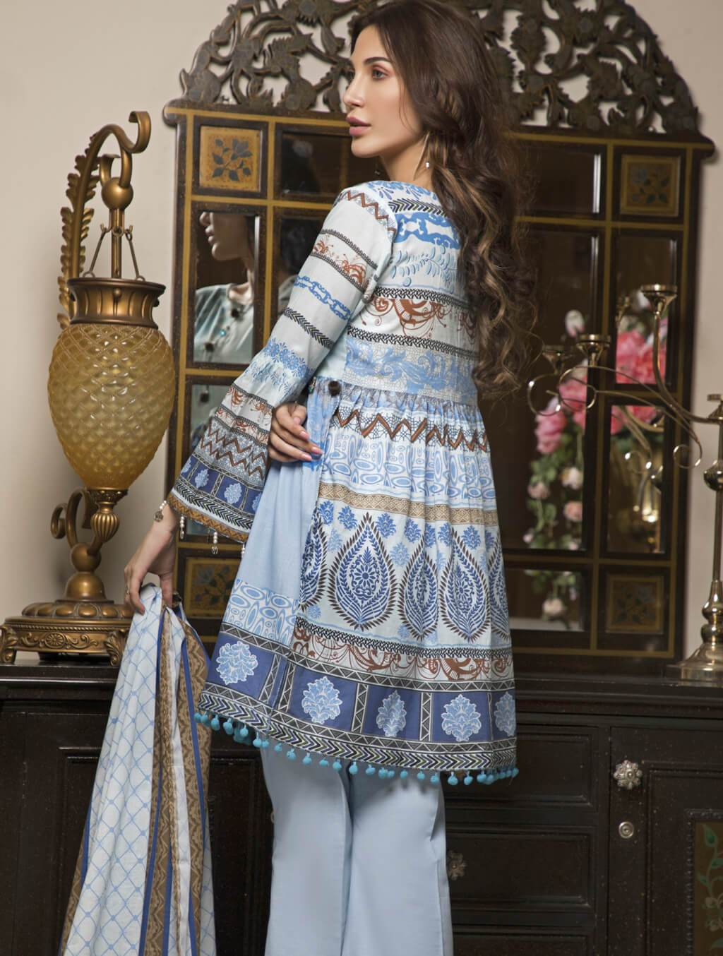 STITCHED PRNT. LAWN 3 PC KLA-9028