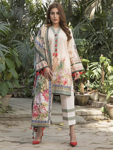 STITCHED PRNT. LAWN 3 PC KLA-9031