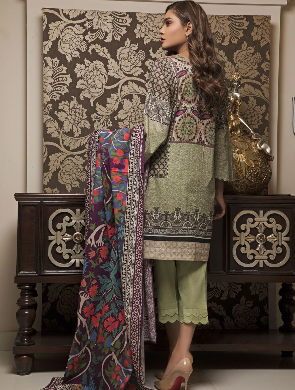STITCHED PRNT. LAWN 3 PC KLA-9032