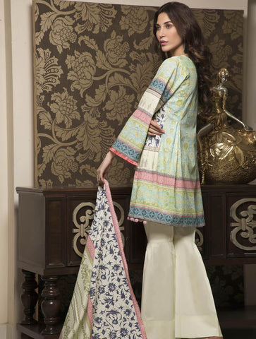 STITCHED PRNT. LAWN 3 PC KLA-9033