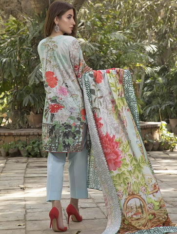 STITCHED PRNT. LAWN 3 PC KLA-9034