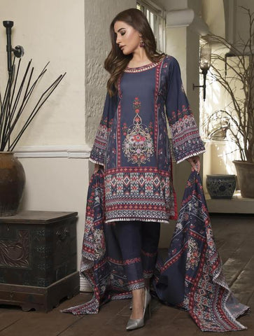 STITCHED PRNT. LAWN 3 PC KLA-9036