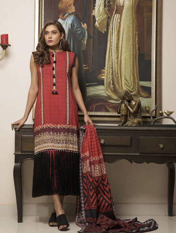STITCHED PRNT. LAWN 3 PC KLA-9039
