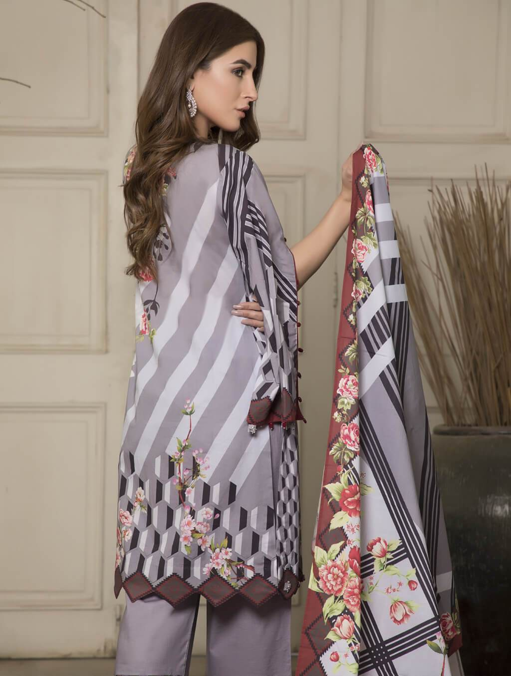 STITCHED PRNT. LAWN 3 PC KLA-9041
