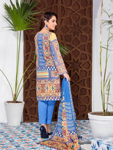 Stitched Printed 3 Piece KLA-9077
