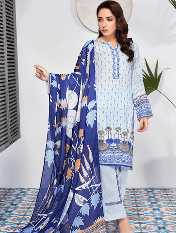 Stitched Printed 3 Piece KLA-9076