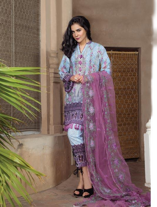 Khas Lawn Vol. 1 2018 Stitched 3 Piece Kne-7001