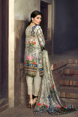 Khas Lawn Vol. 1 2018  Stitched 3 Piece Kse-8003