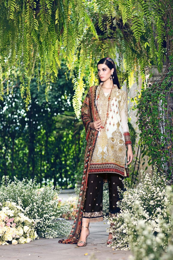 Gul Ahmed Festive Collection 2018 Stitched 3 Piece Cl # 407 A