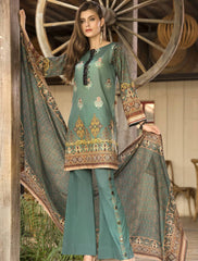 STITCHED EMB. LAWN 3 PC KL-4049